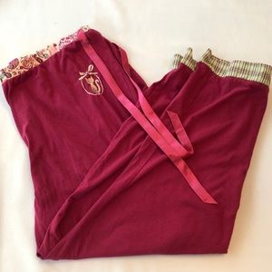 🌹Secret Treasures Raspberry Crop Pajama Pants - L